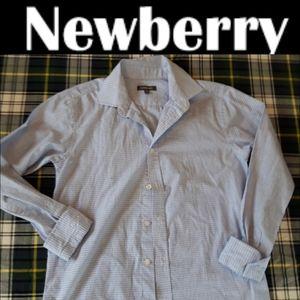 size 16 Boys Newberry checked dress shirt